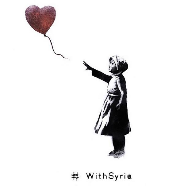 #WithSyria | Kampagne | Syrien | Bürgerkrieg | Foto: Banksy | (NICHT) GROSSARTIG