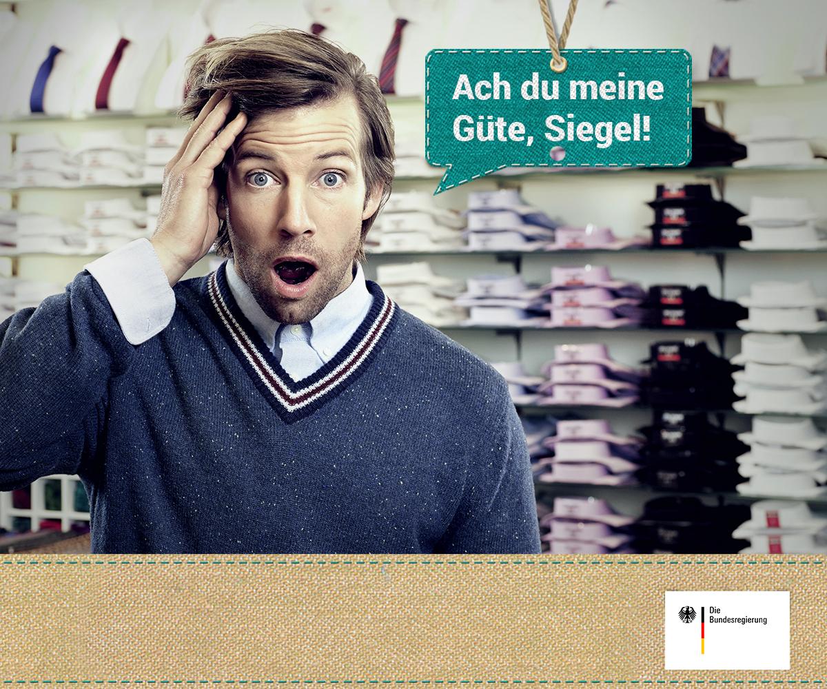 Verbraucherportal Siegelklarheit | Bundesregierung und BMZ | Strategie zur Nachhaltigkeit | Foto: BMZ | GROSSARTIG