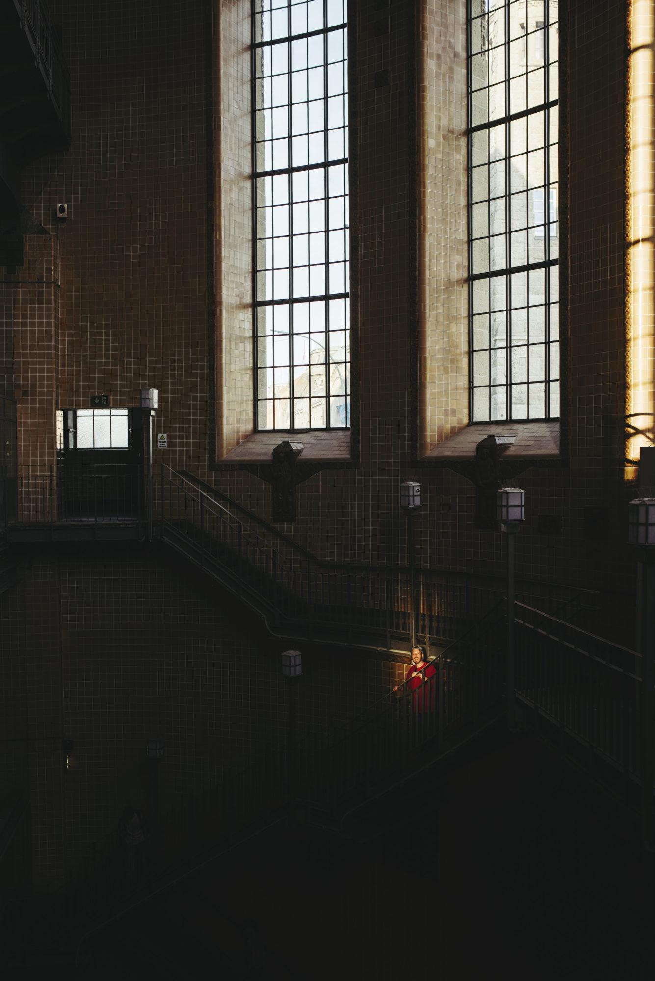 Aufnahmen für »Einfach anziehend« im Alten Elbtunnel zu Hamburg | Foto: Rene Zieger | GROSS∆RTIG